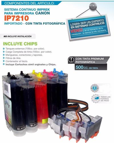 sistema continuo para canon ip7210 mg5410 mg6410 full tinta