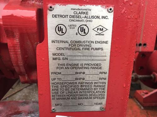 sistema contra incendios 2000 gpm diesel nacional