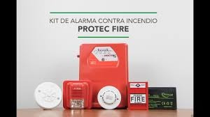 sistema contra incendios detector de humo luz estrobocopica