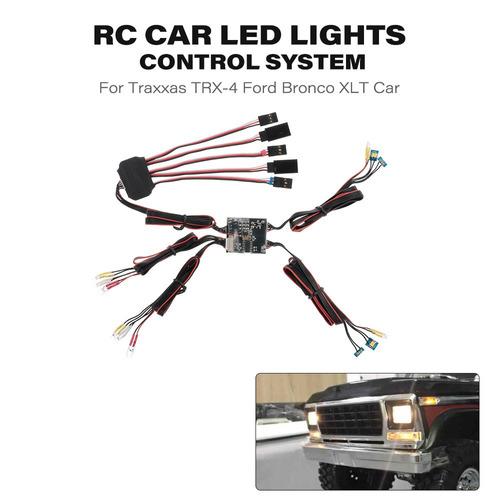 sistema control de luces led coche rc para traxxas trx-4 vad