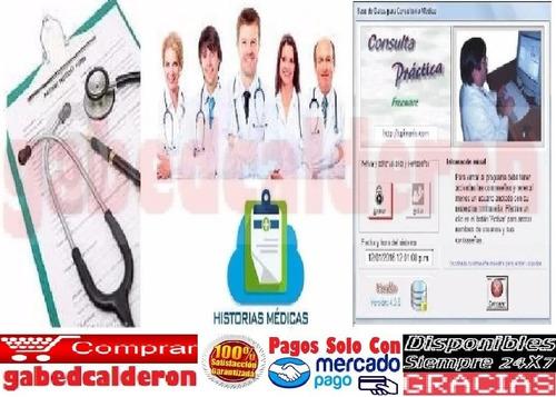 sistema control programa consultorios médicos e historias