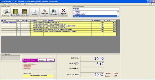 sistema d facturación e inventarios para tiendas y almacenes