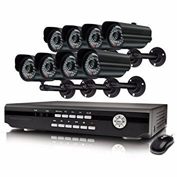sistema de 7 camaras de seguridad y grabadora swann alpha