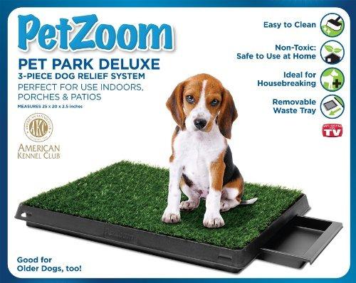 sistema de alivio perro petzoom pet park deluxe de 3 piezas