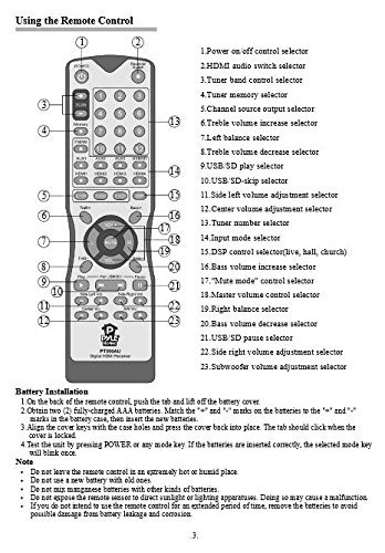 sistema de amplificador de potencia de audio