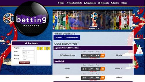 sistema de apostas esportivas futebol -tennis- ufc - etc