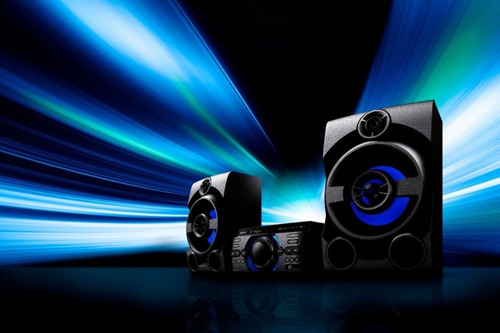 sistema de audio de alta potencia con dvd m20d