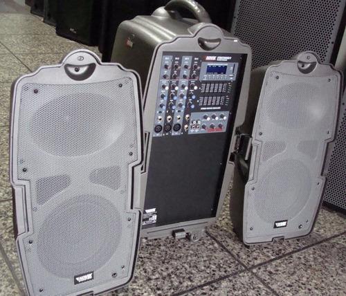 sistema de audio portátil streetsound novik bt usb