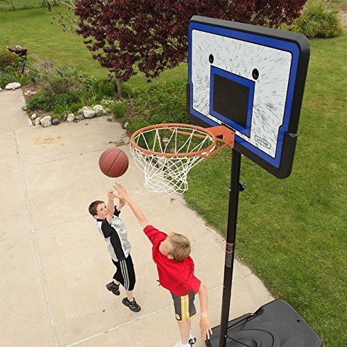 sistema de baloncesto portatil de altura ajustable lifetime