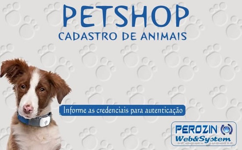 sistema de cadastro e controle de animais petshop