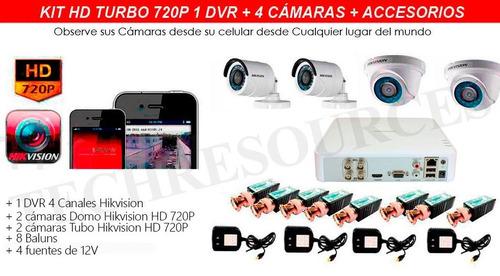 sistema de cámaras de seguridad hikvision hd