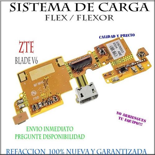sistema de carga flex flexor centro de carga zte blade v6
