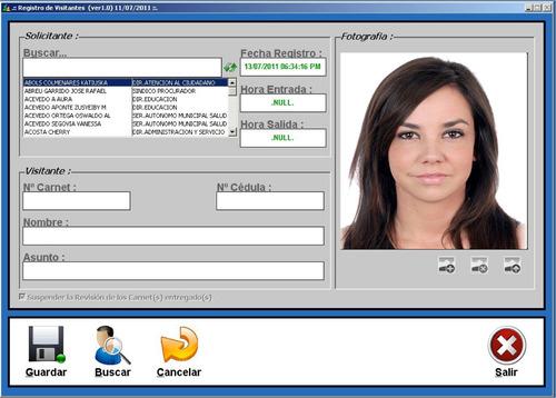 sistema de control acceso para visitantes k-visitante