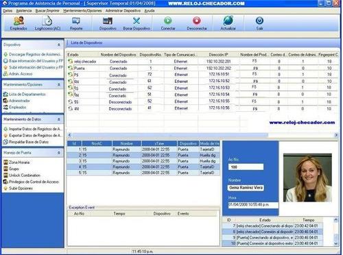 sistema de control de asistencia y tardanzas