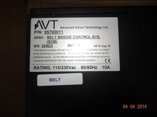sistema de controle belt bridge avt advanced vision