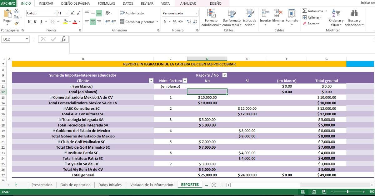 Sistema De Cuentas Por Pagar En Excel - $ 590.00 en Mercado Libre