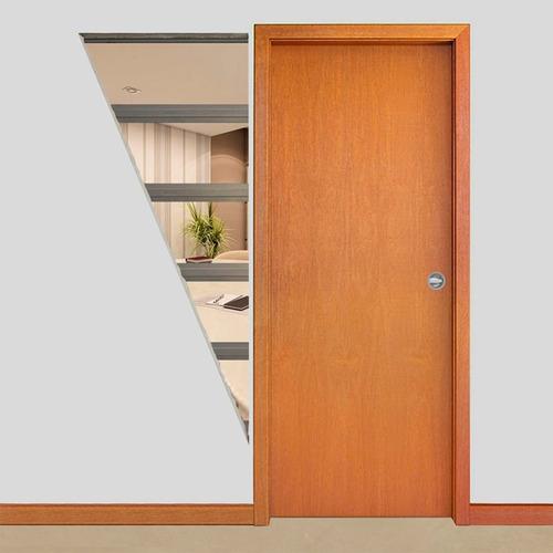 sistema de embutir porta de correr parede de drywall 82cm