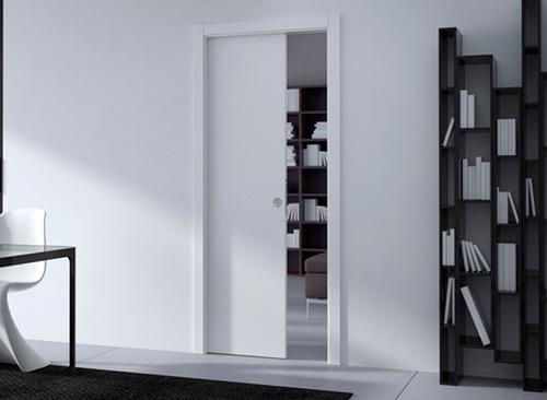 sistema de embutir porta de correr parede de drywall 92cm