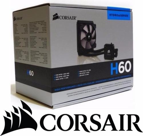 sistema de enfriamiento liquido corsair h60 cpu intel y amd