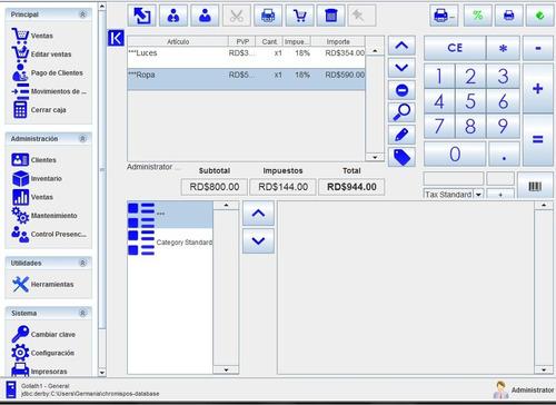 sistema de facturacion e inventario