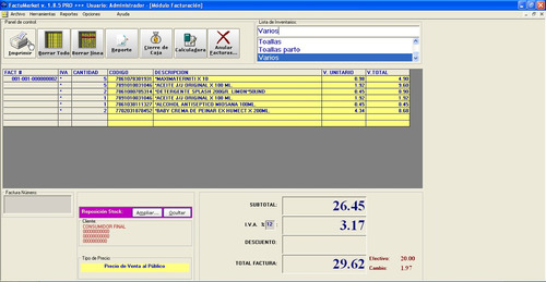 sistema de facturacion e inventarios para pequeños negocios