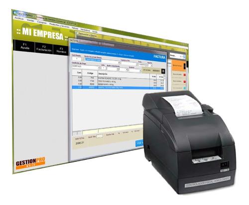 sistema de facturacion gestionpro para impresora fiscal