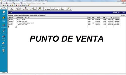 sistema de facturacion, inventario, ventas ,administrativo