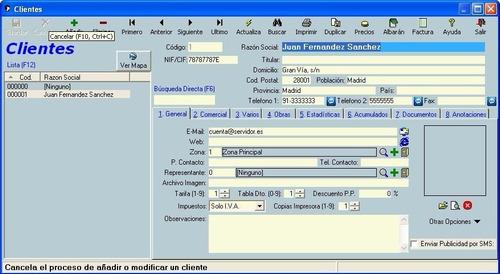sistema de facturación y almacén + licencia