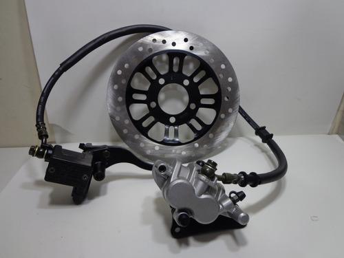 sistema de freio compl.cg 150 esd 2009/14 c/ disco e past.
