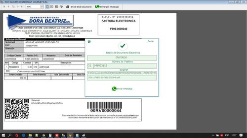 sistema de gestion con facturación electrónica