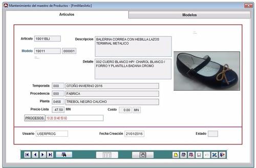sistema de gestion para fabricas de calzado