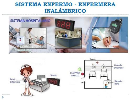 sistema de llamado enfermo enfermera,restaurante, bar hotel