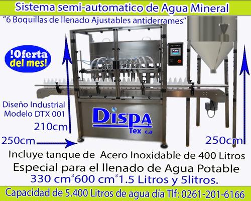 sistema de llenado de de agua potable semi-automaticos