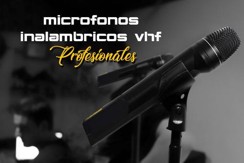 sistema de microfonos inalambricos acustic  profesional