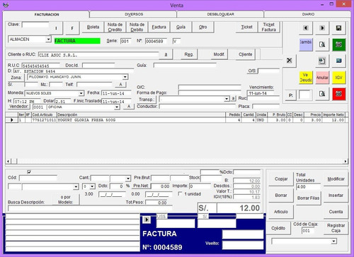 sistema de minimarket facturación electrónica original 2019