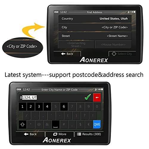 Sistema De Navegación Gps Aonerex 5 Pulg  8gb Para Carro
