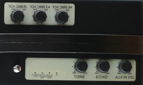sistema de pa portátil con micrófonos inalámbricos hisonic