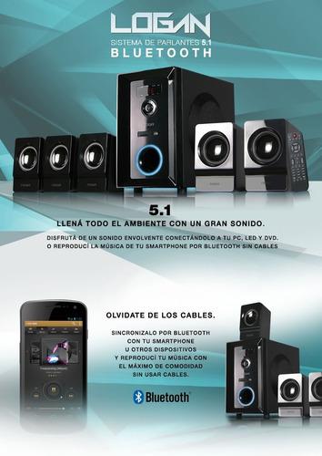 sistema de parlantes 5.1 bluetooth inalámbrico 95w pc tv