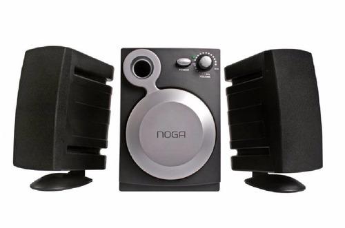 sistema de parlantes multimedia 2.1 noga net 802
