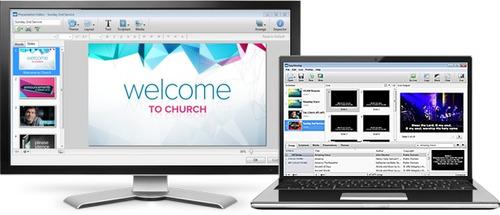 sistema de produção multimídia para igrejas e evento ao vivo