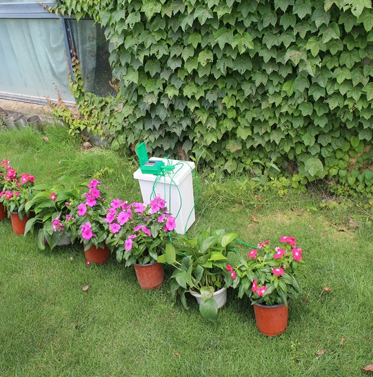 Sistema de riego por goteo automatico jardines huertas for Riego automatico jardin