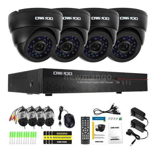sistema de seguridad de camaras cctv de 4 canales vigilancia