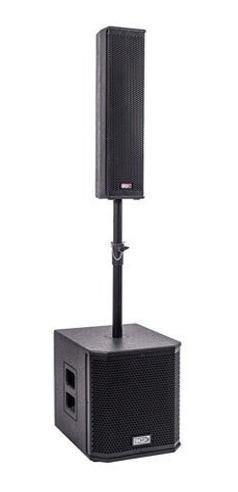 sistema de som boxx co-02 ativo torre + sub 12 pol 600w rms