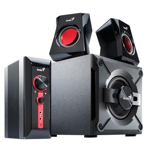 sistema de sonido 2.1 genius 1250 · 38 watts rms (reales)