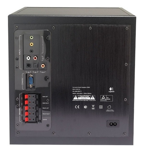 sistema de sonido 5.1 logitech z906 · 500 watts rms (reales)