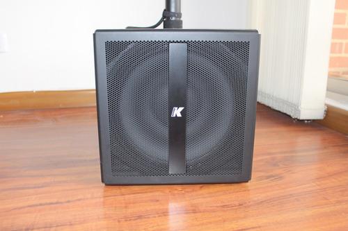 sistema de sonido k-array kb1 cabina bajo y medio brillo