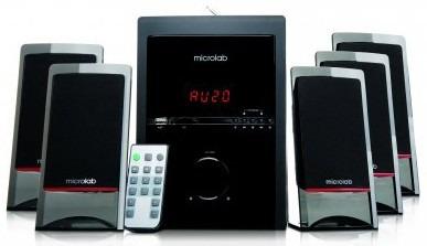sistema de sonido microlab m710u 51 radio fm usb sd