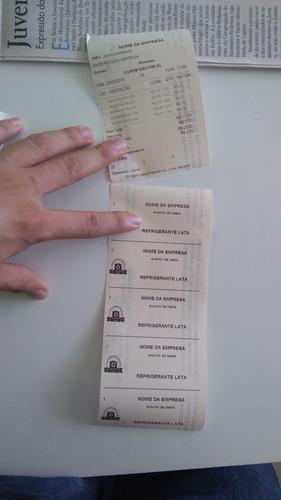 sistema de tickets (fichas) bares lanchonetes festas igrejas
