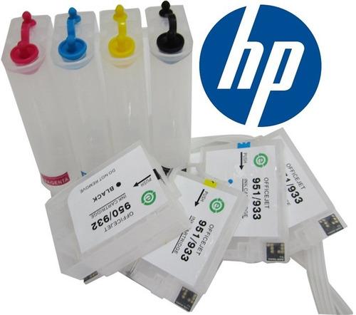 sistema de tinta continua hp 950 951 hp pro 8100 8600 chip