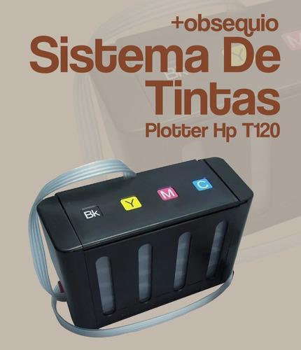 sistema de tintas plotter hp t120+obsequio